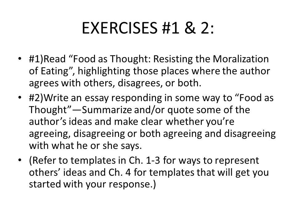 EXERCISES #1 & 2: