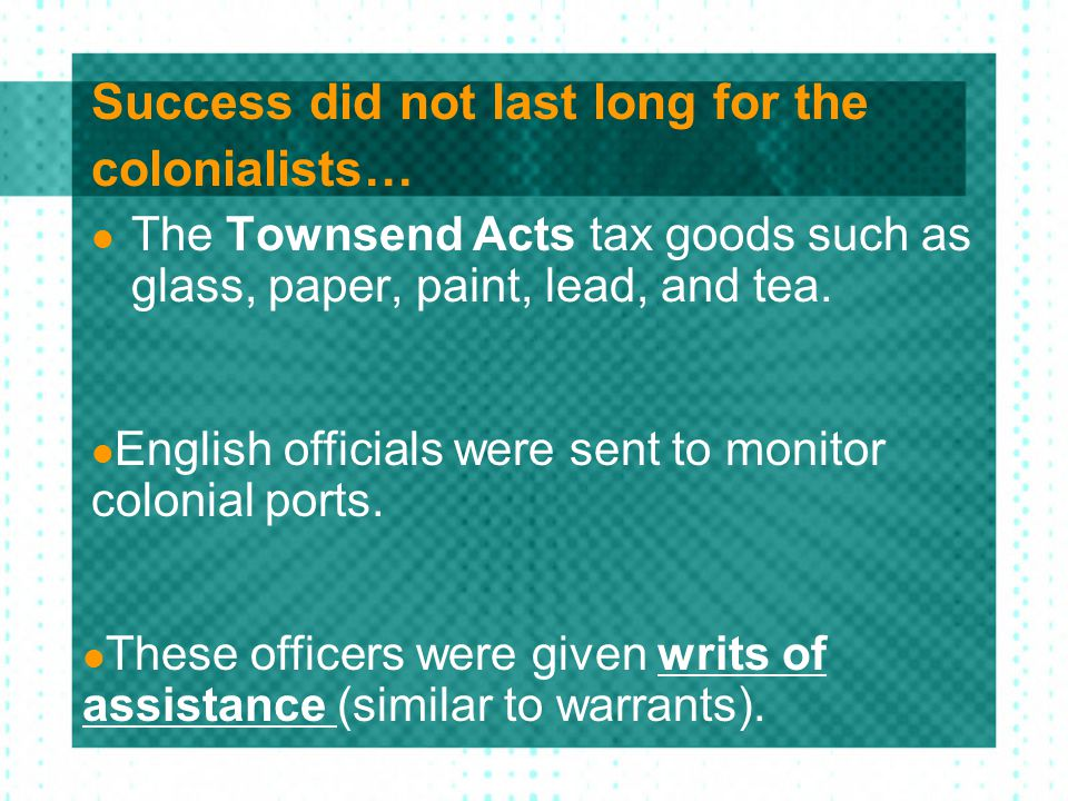Success did not last long for the colonialists…