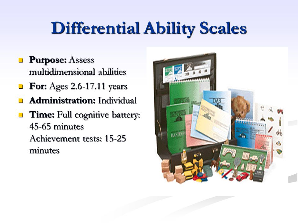Differential Ability Scales