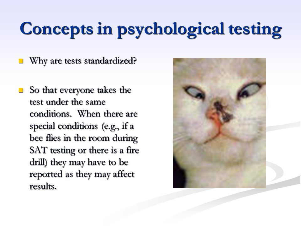 Concepts in psychological testing