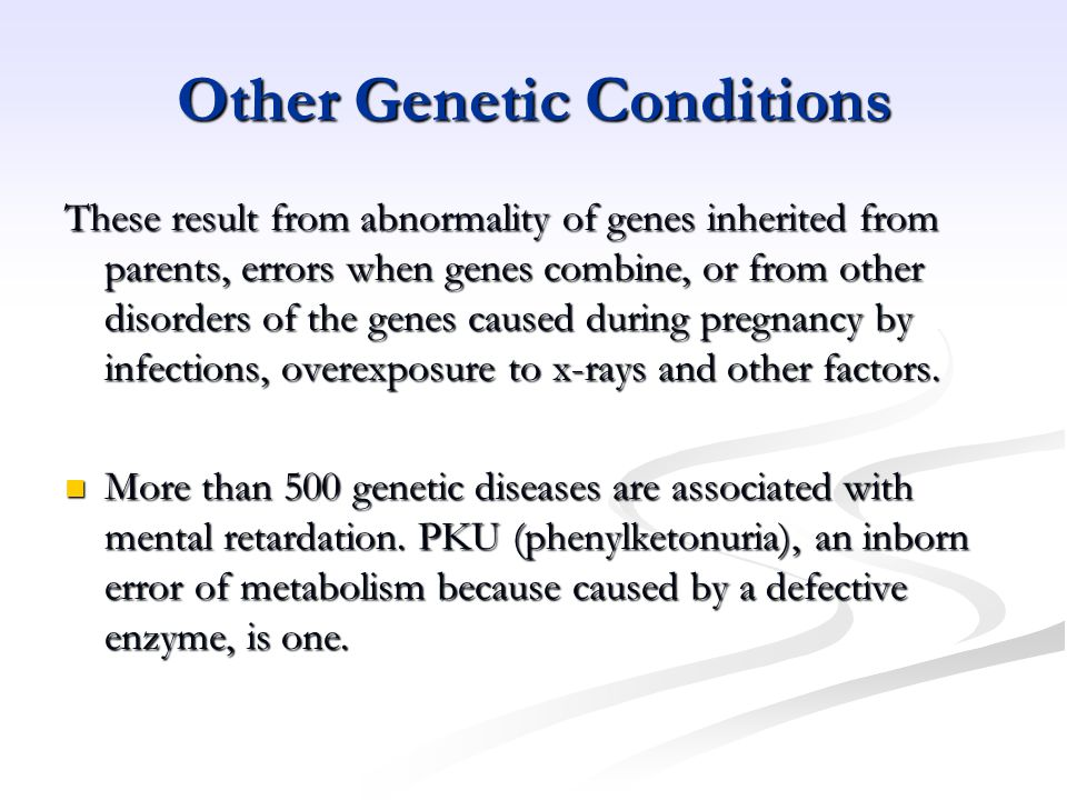 Other Genetic Conditions