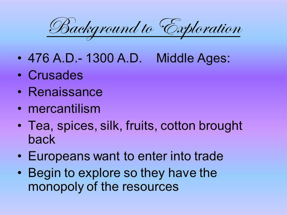 Background to Exploration