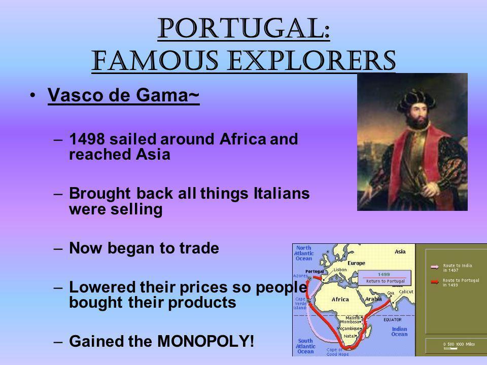 Portugal: Famous explorers