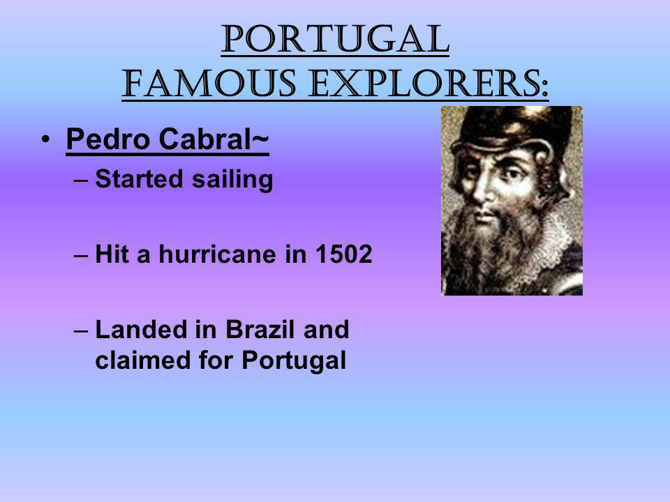 Portugal Famous explorers: