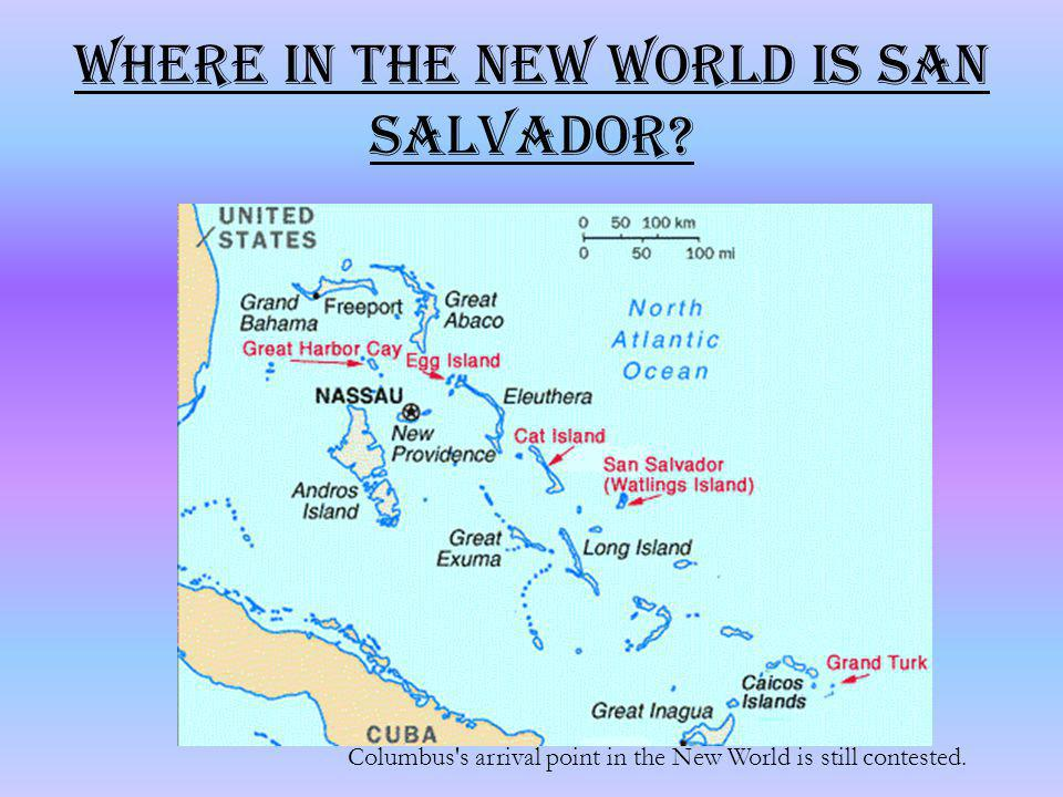 Where in the New World is San Salvador