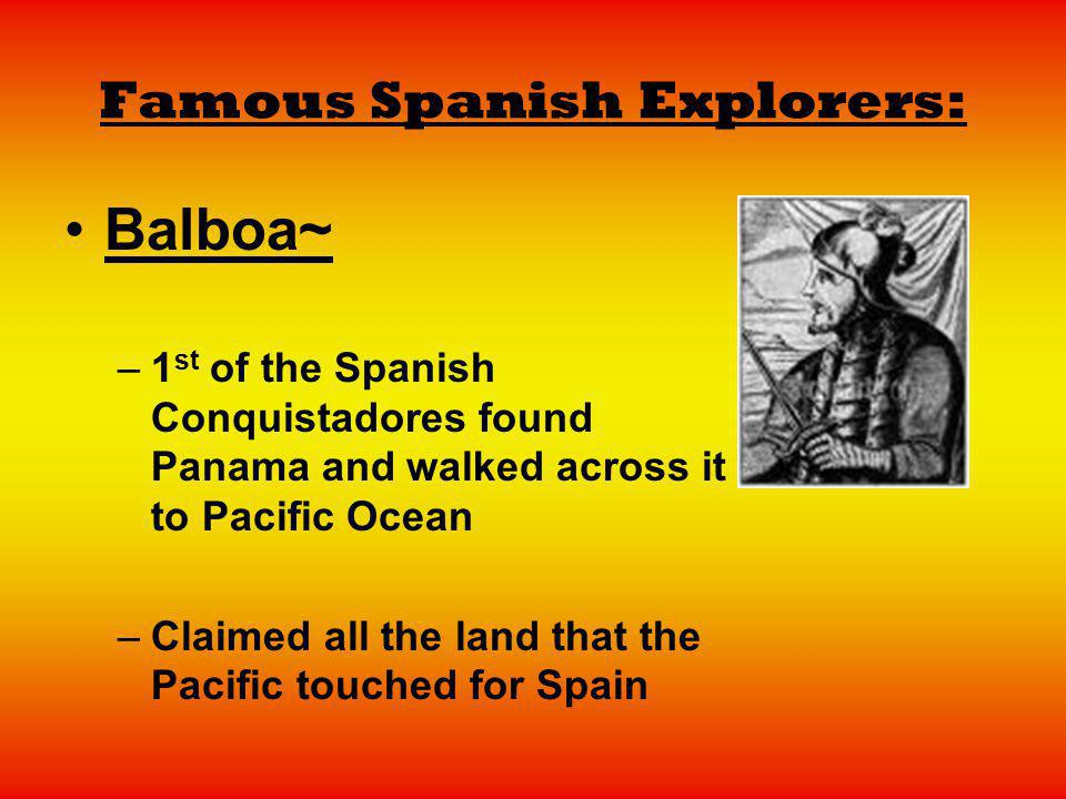 Famous Spanish Explorers:
