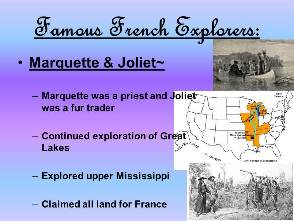 Famous French Explorers:
