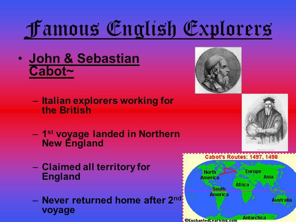 Famous English Explorers