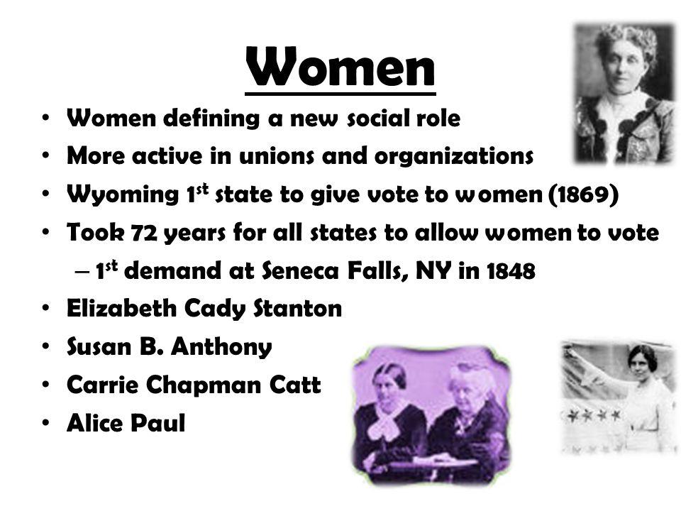 Women Women defining a new social role