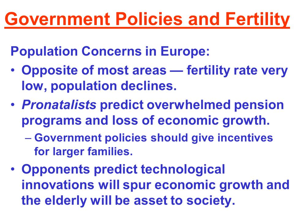 Government Policies and Fertility