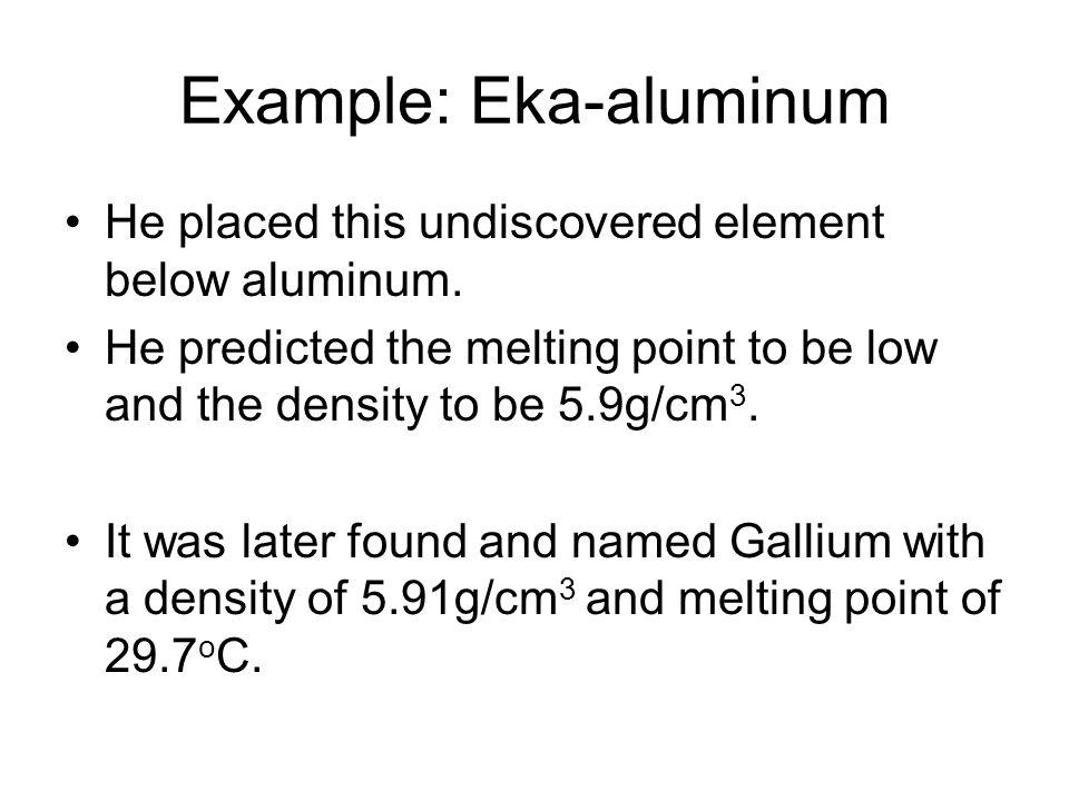Example: Eka-aluminum