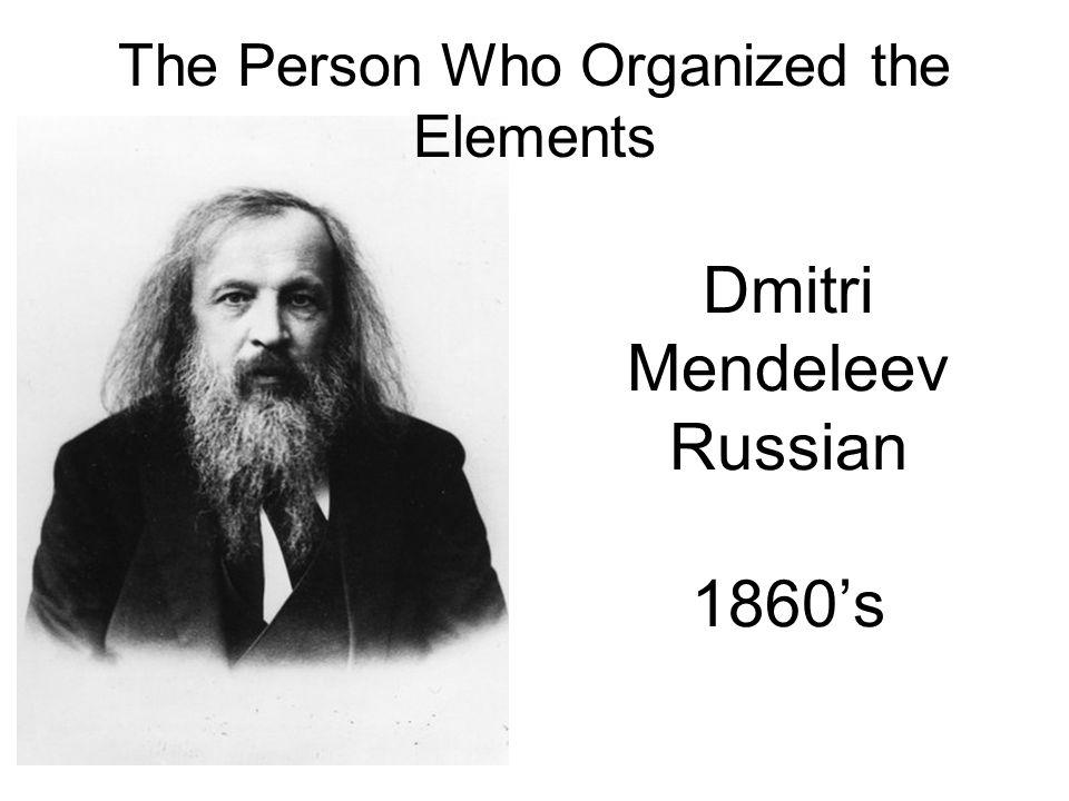 Dmitri Mendeleev Russian 1860's