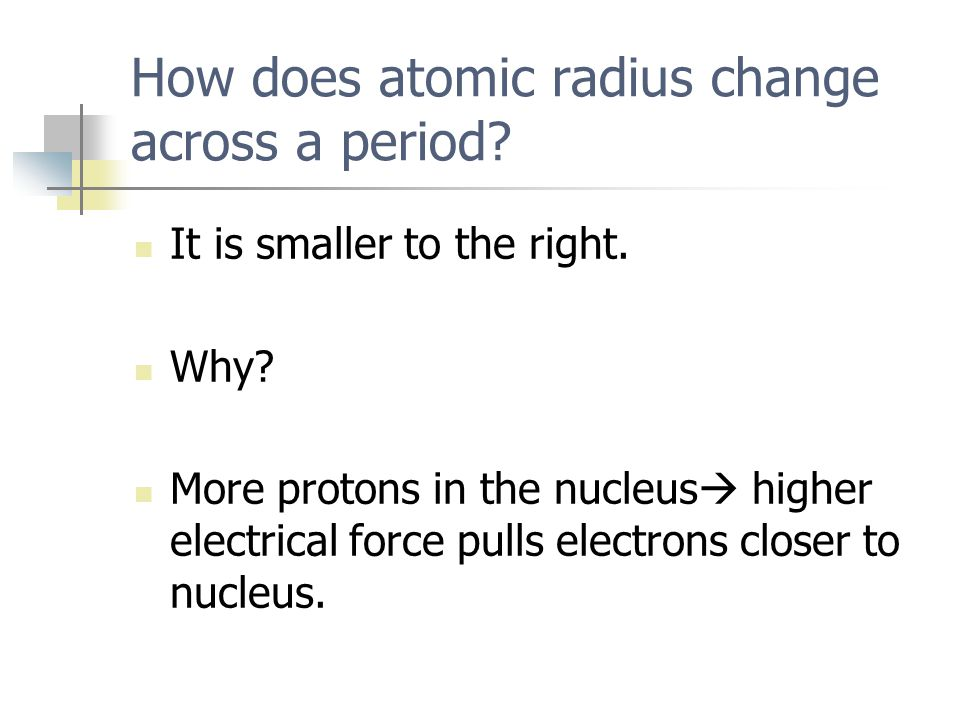 How does atomic radius change across a period