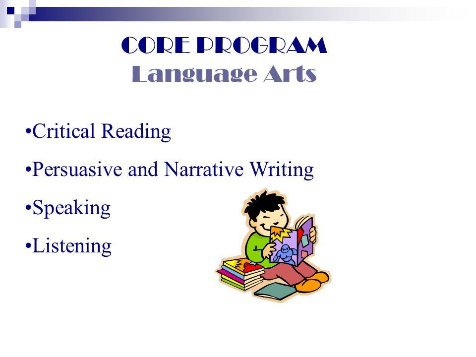 CORE PROGRAM Language Arts