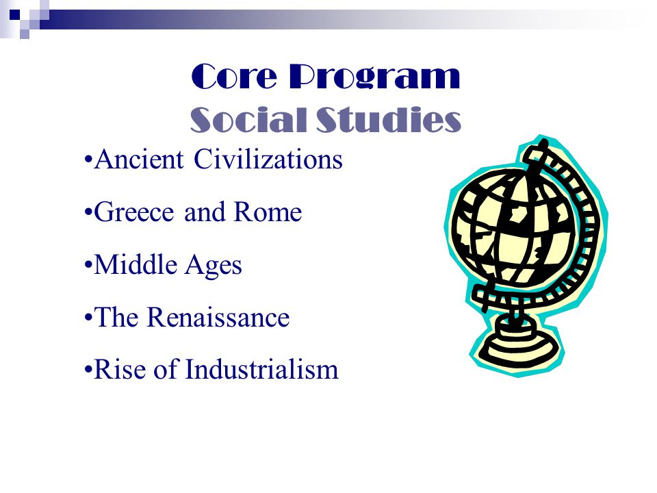 Core Program Social Studies