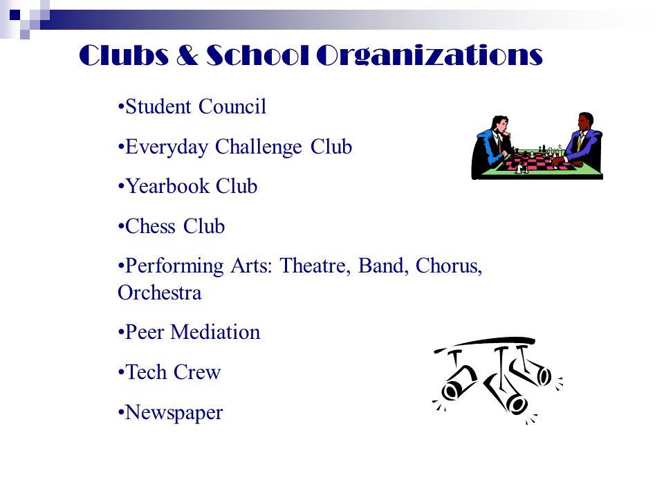 Clubs & School Organizations