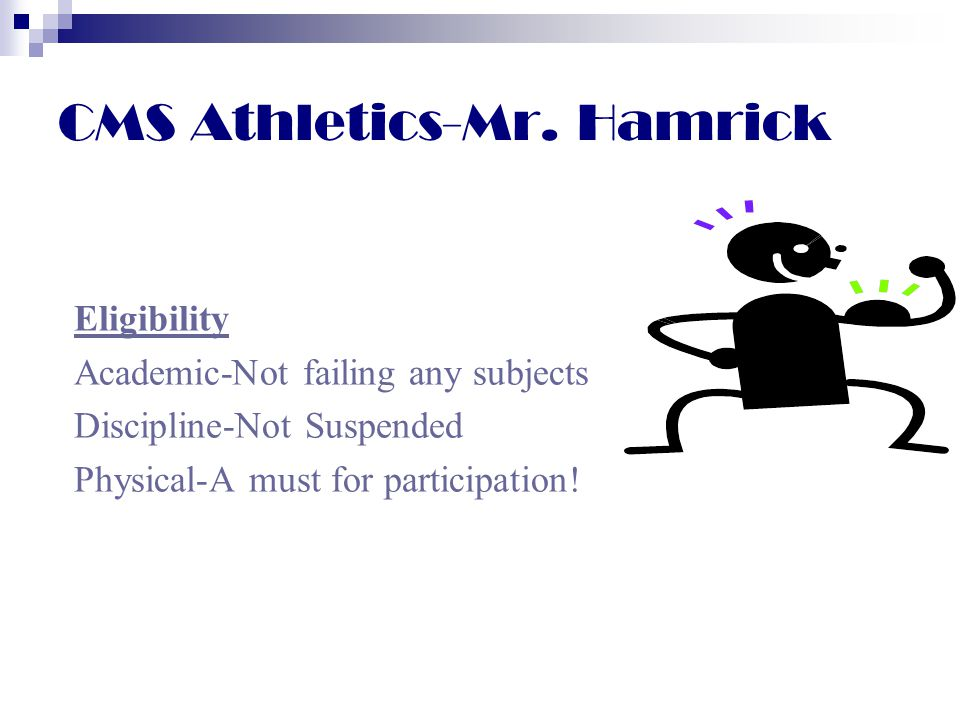 CMS Athletics-Mr. Hamrick