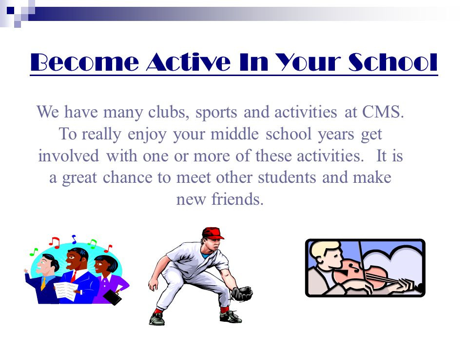 Become Active In Your School