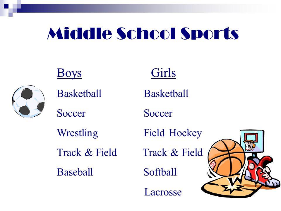 Middle School Sports Boys Girls Basketball Basketball Soccer Soccer
