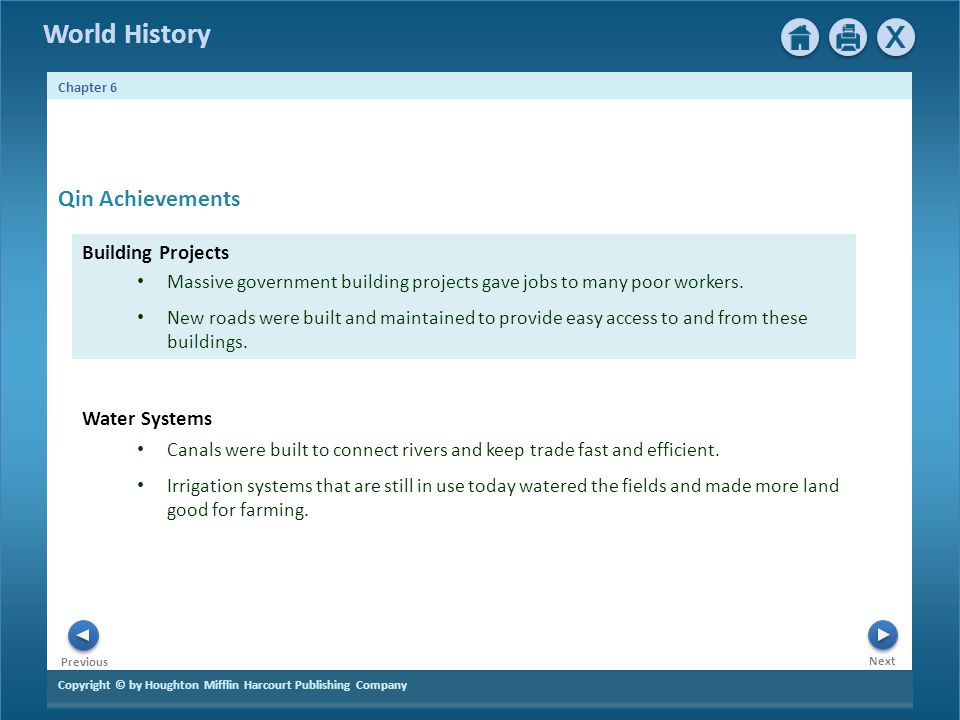 Qin Achievements Building Projects Water Systems