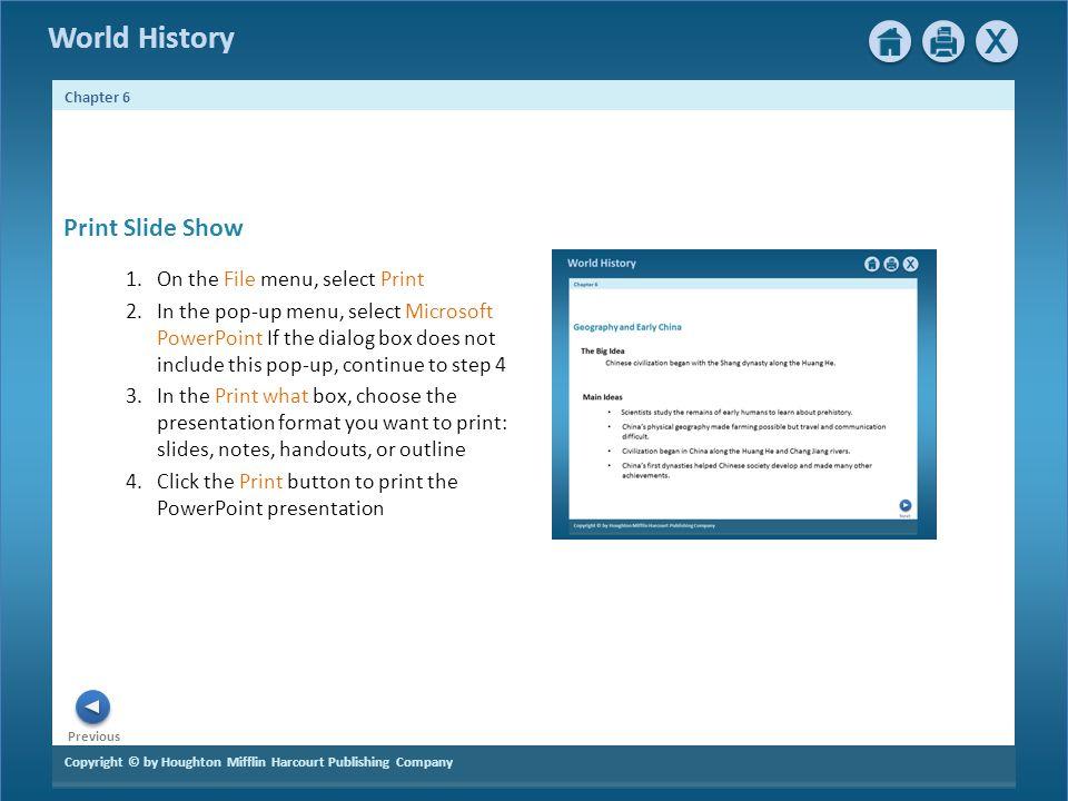 Print Slide Show On the File menu, select Print