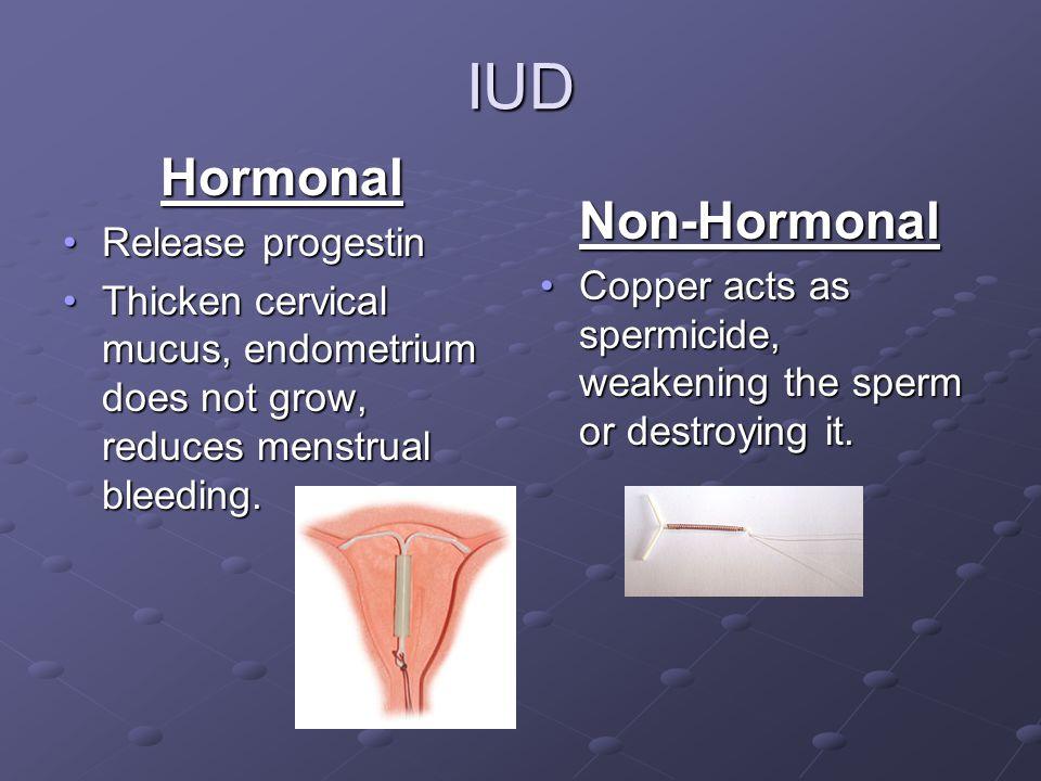 IUD Hormonal Non-Hormonal Release progestin
