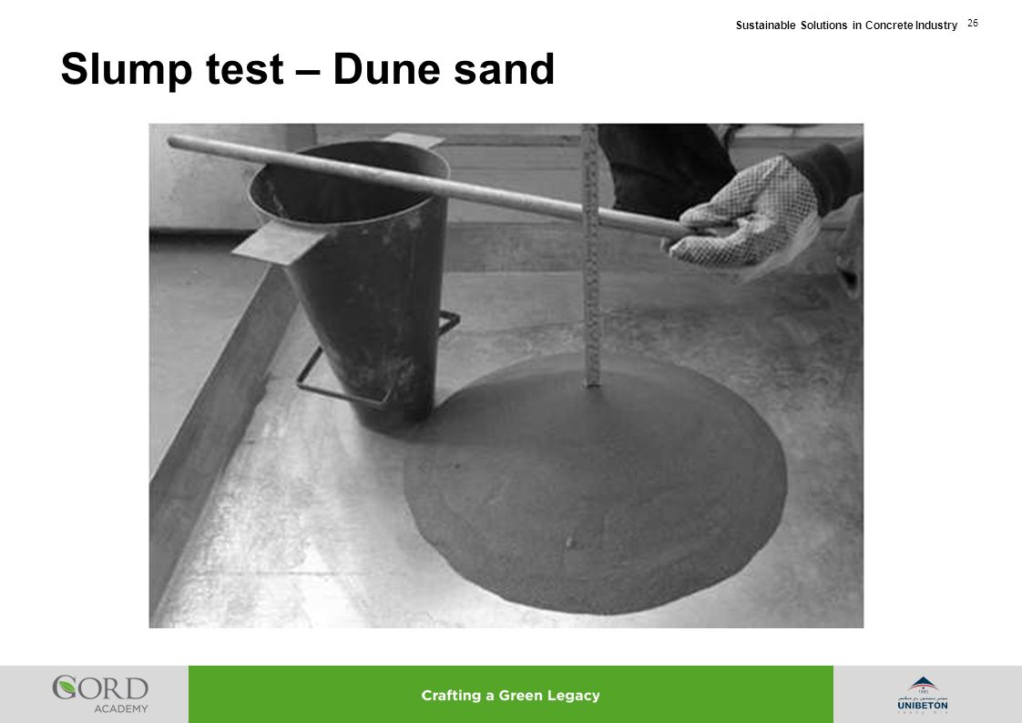 Slump test – Dune sand