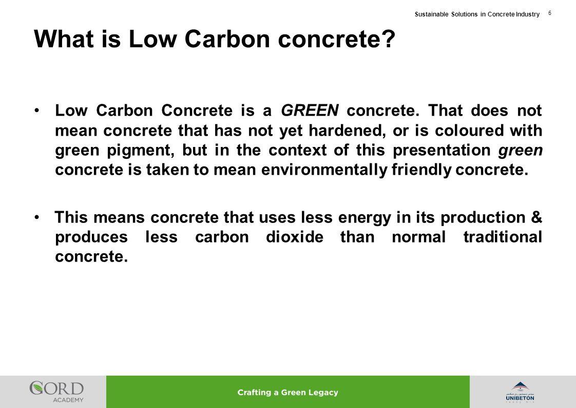 What is Low Carbon concrete