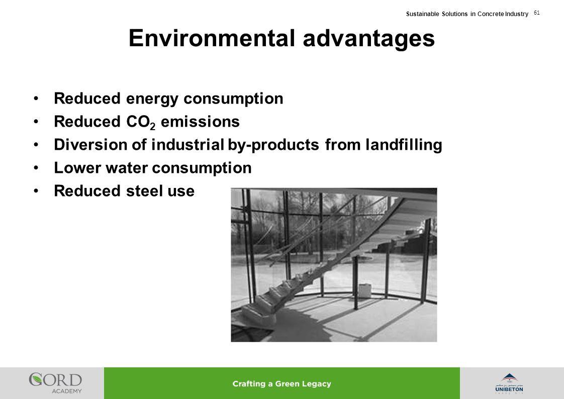 Environmental advantages