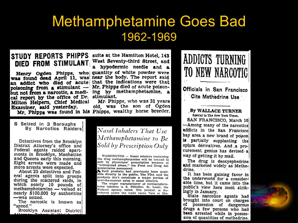 Methamphetamine Goes Bad 1962-1969
