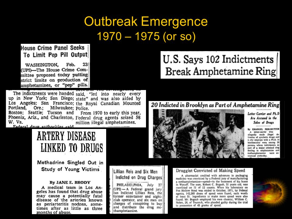 Outbreak Emergence 1970 – 1975 (or so)