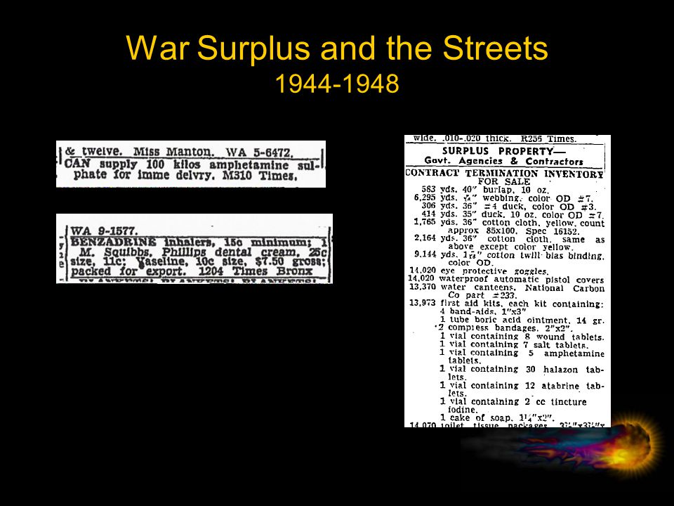 War Surplus and the Streets 1944-1948