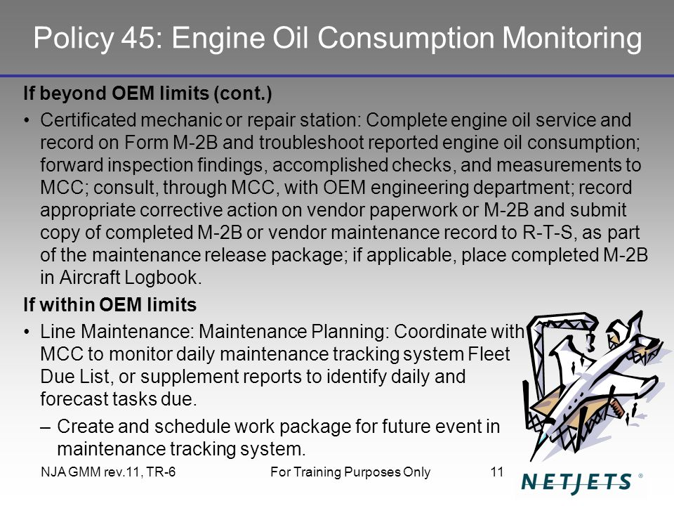 Policy 45: Engine Oil Consumption Monitoring