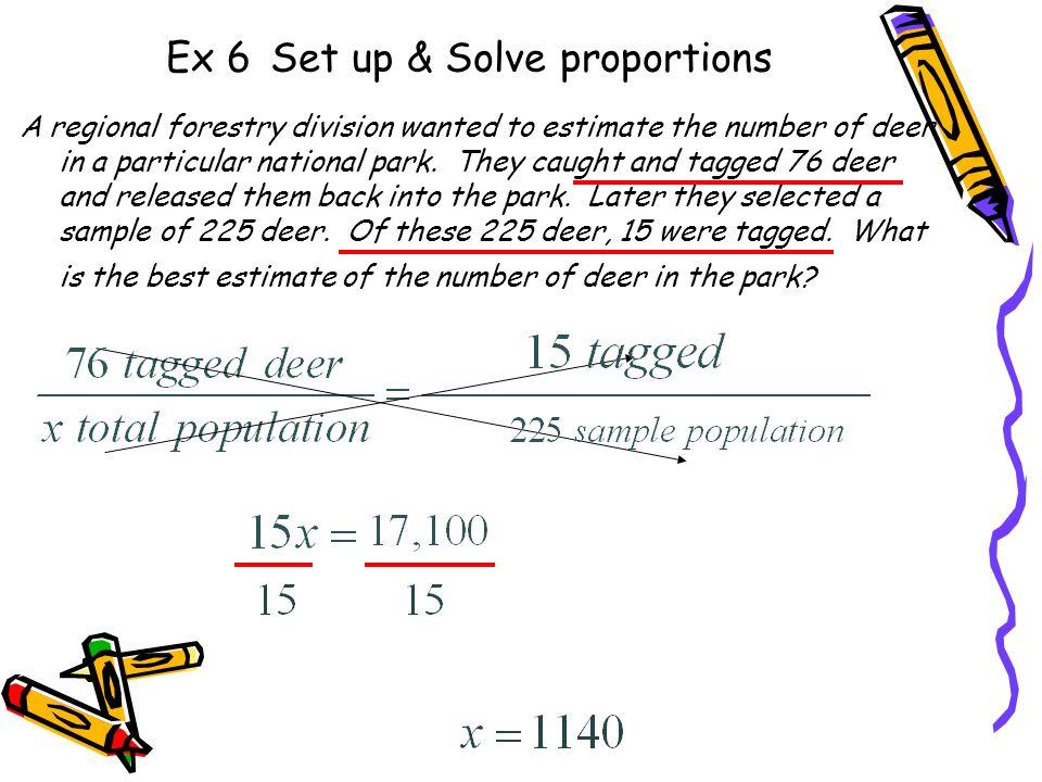 Ex 6 Set up & Solve proportions