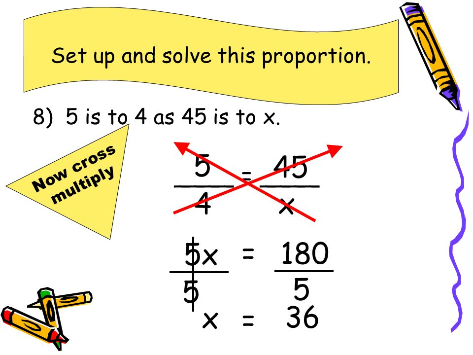 Set up and solve this proportion.