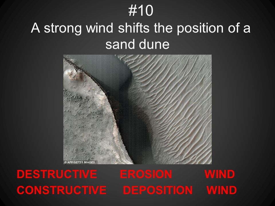 #10 A strong wind shifts the position of a sand dune