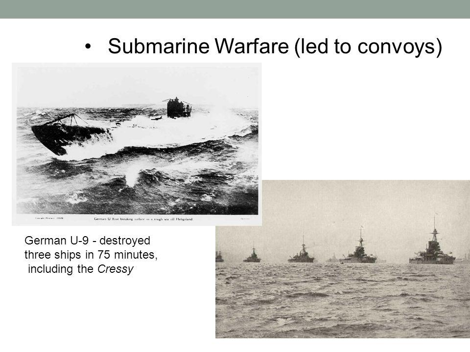 Submarine Warfare (led to convoys)