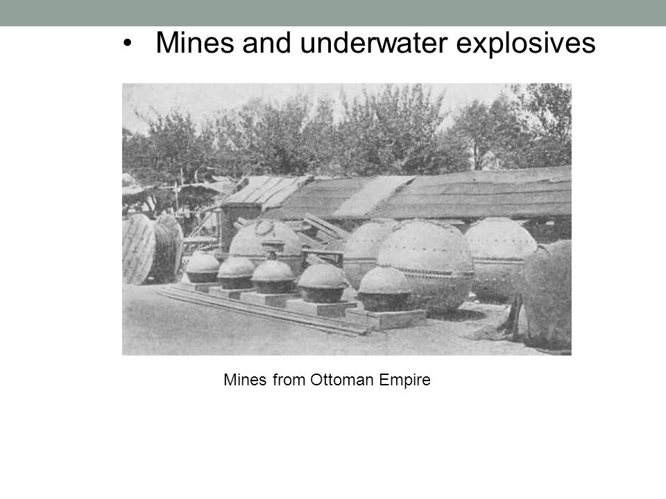 Mines and underwater explosives