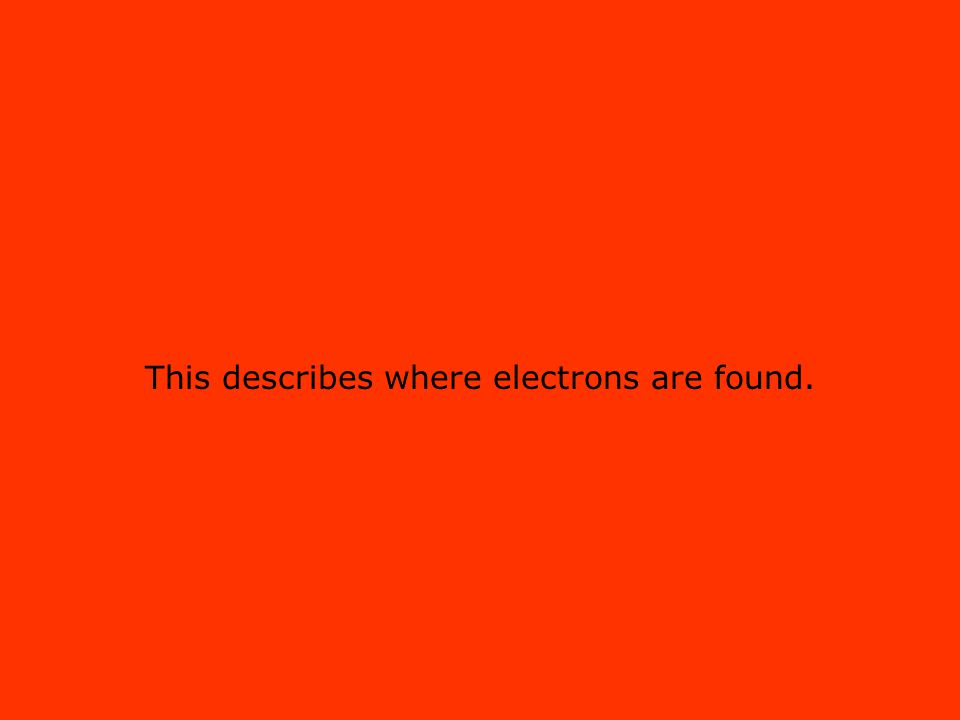 This describes where electrons are found.