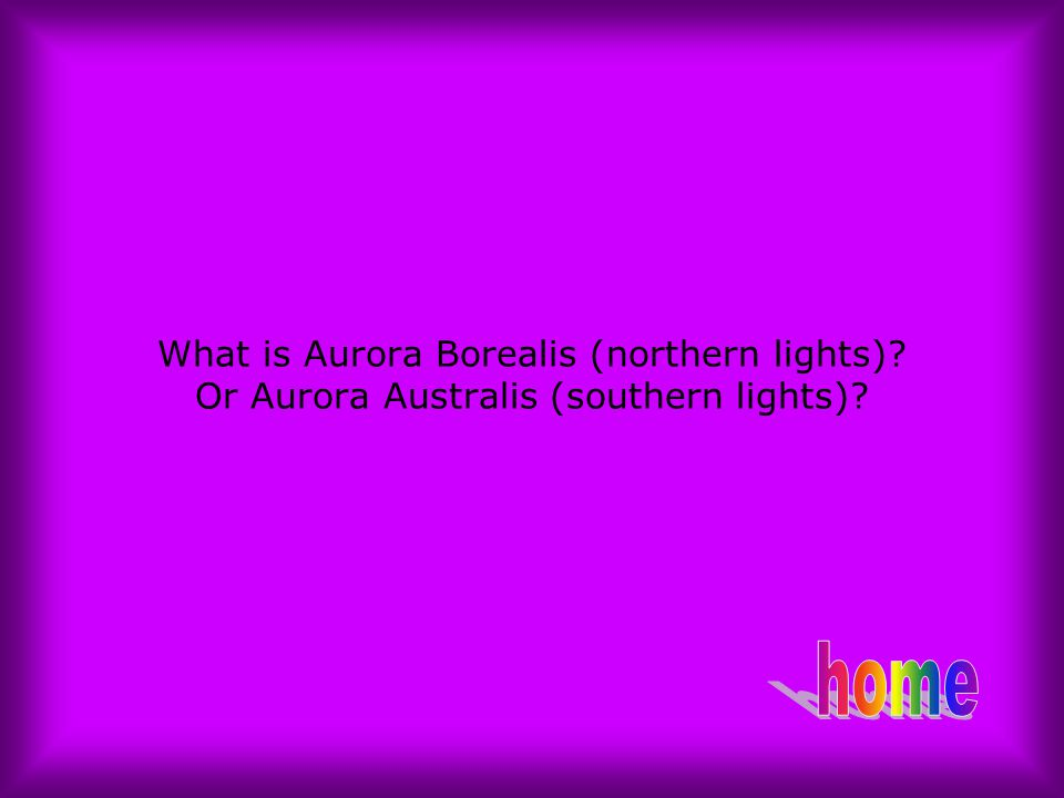 What is Aurora Borealis (northern lights)