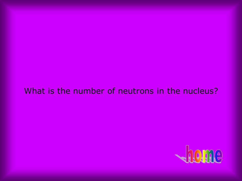 What is the number of neutrons in the nucleus
