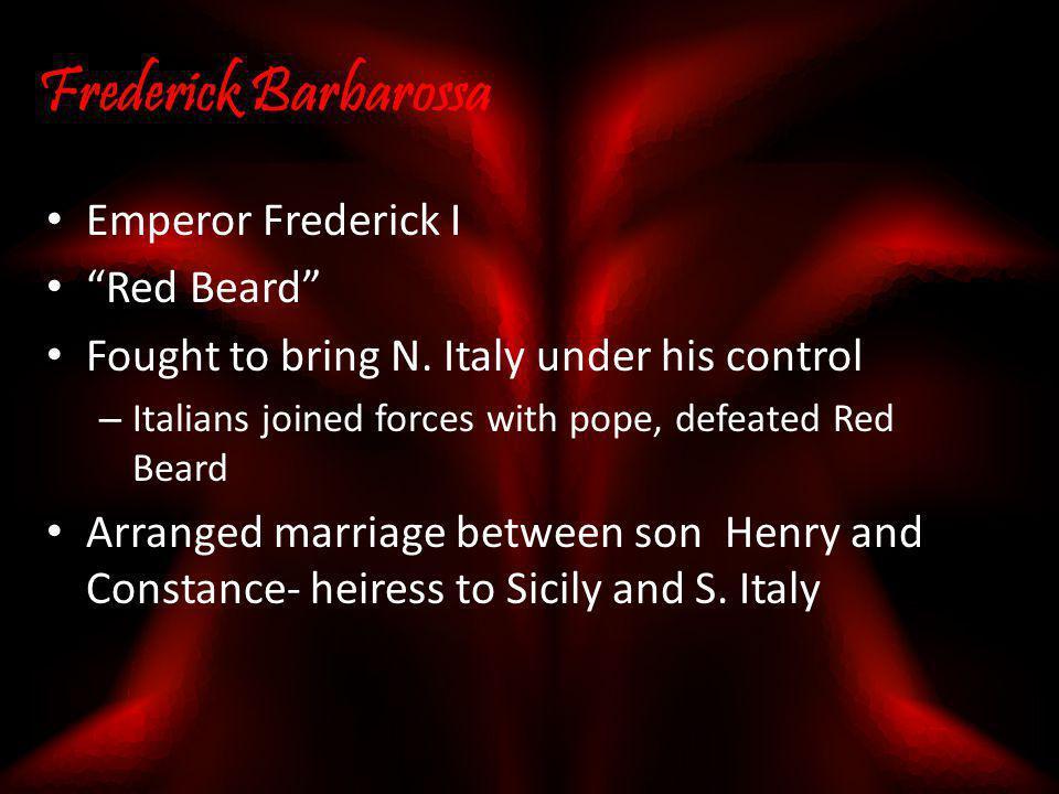 Frederick Barbarossa Emperor Frederick I Red Beard