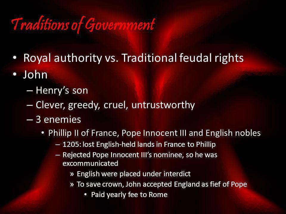 Traditions of Government
