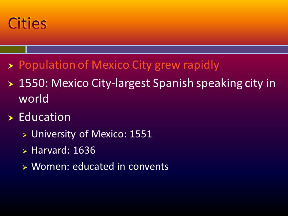 Cities Population of Mexico City grew rapidly