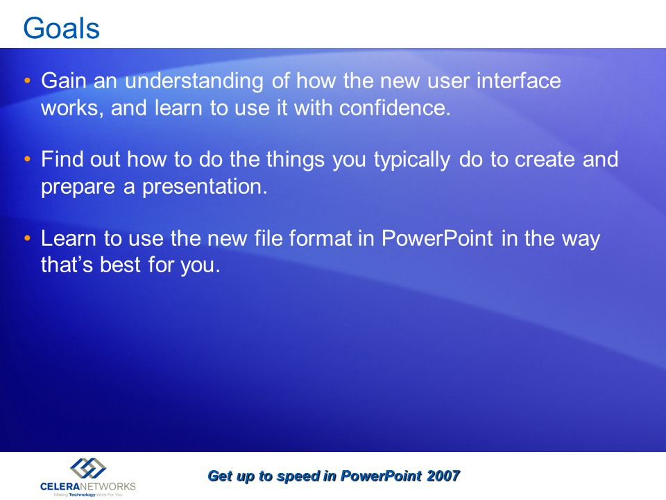 Get up to speed in PowerPoint 2007