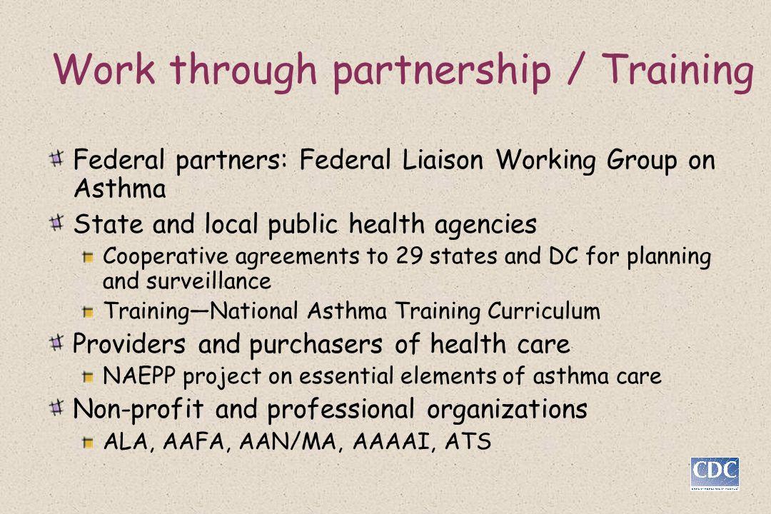 Work through partnership / Training