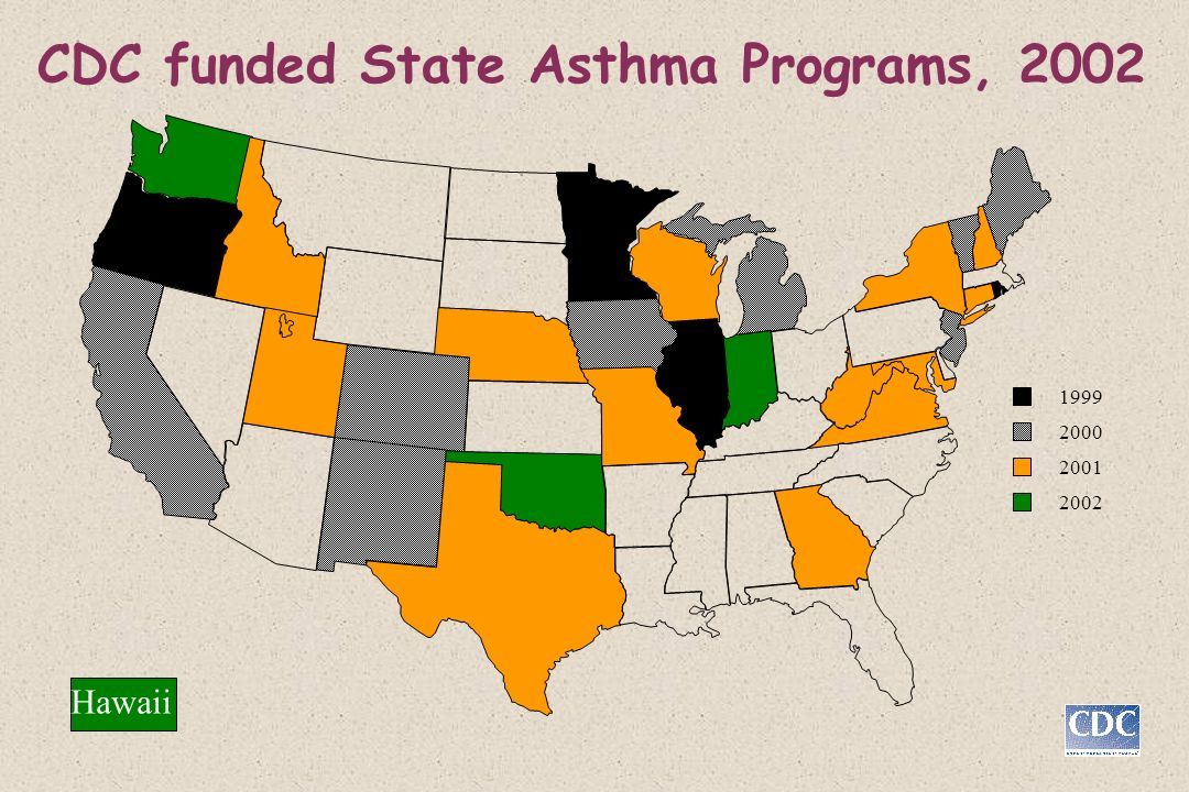 CDC funded State Asthma Programs, 2002