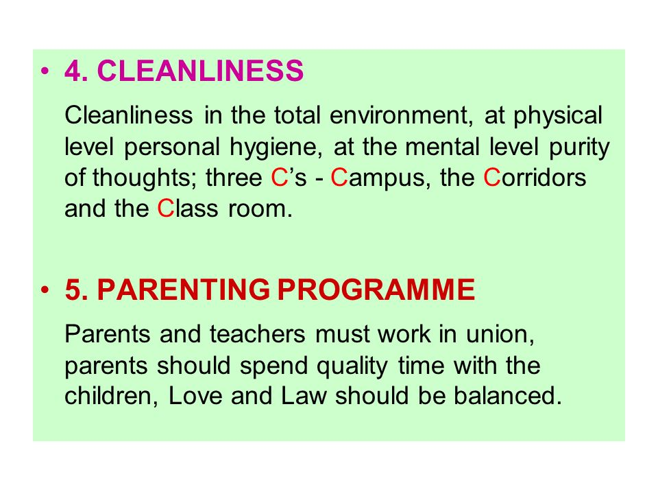 4. CLEANLINESS