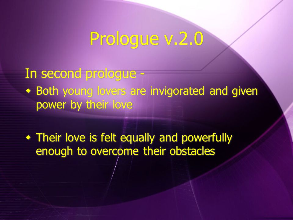 Prologue v.2.0 In second prologue -