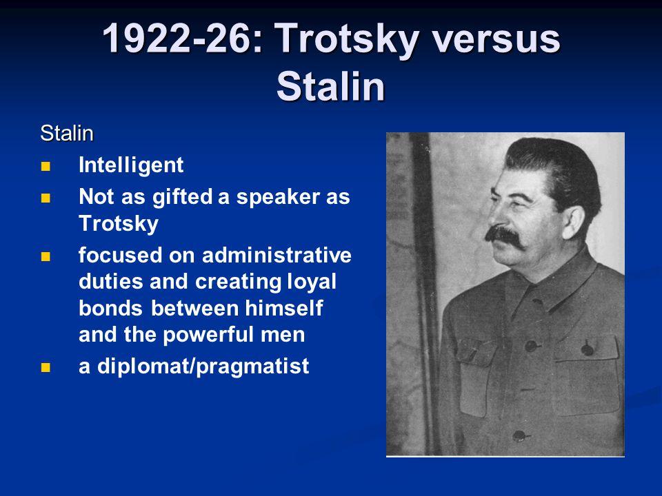 1922-26: Trotsky versus Stalin